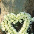 Heart shaped sympathy flowers — Stock Photo #75954059