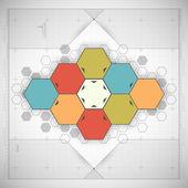 Modern Hexagon background — Stock Vector
