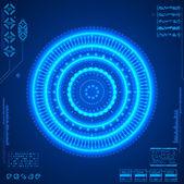 Futuristic graphic user interface — Vector de stock