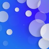 White circles on blue background - vector illustration — Stock Vector
