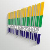 Brazil Summer Barcode Background - vector illustration — Stock Vector
