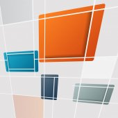 Abstract square background - vector illustration — Stock Vector