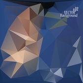 Multicolor ( Blue, Brown, Gray ) Design Templates. Geometric Triangular Abstract Modern Vector Background.  — Vector de stock