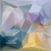 Multicolor ( Blue, Yellow, Violet ) Design Templates. Geometric Triangular Abstract Modern Vector Background.  — Vector de stock