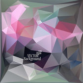 Multicolor ( Rose, Green, Gray ) Design Templates. Geometric Triangular Abstract Modern Vector Background.  — Vector de stock
