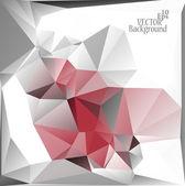 Multicolor ( Red, Gray, White ) Design Templates. Geometric Triangular Abstract Modern Vector Background.  — Vector de stock