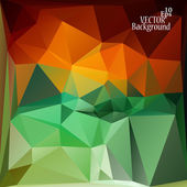 Multicolor ( Red, Green, Yellow ) Design Templates. Geometric Triangular Abstract Modern Vector Background.  — Vector de stock