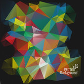 Multicolor ( Red, Green, Blue, Yellow ) Design Templates. Geometric Triangular Abstract Modern Vector Background.  — Vector de stock
