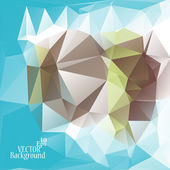 Multicolor ( Blue, Green, Brown ) Design Templates. Geometric Triangular Abstract Modern Vector Background.  — Stockvektor