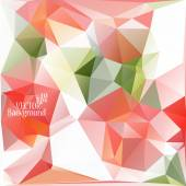 Multicolor ( Red, Rose, Green ) Design Templates. Geometric Triangular Abstract Modern Vector Background.  — Stockvektor