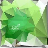 Multicolor ( Green, White ) Design Templates. Geometric Triangular Abstract Modern Vector Background. — Stockvektor
