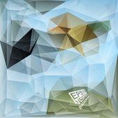 Multicolor Design Templates. Geometric Triangular Abstract Modern Vector Background.  — ストックベクタ
