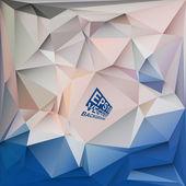 デザイン - ベクトル図で使用するための抽象的な幾何学的な背景 — ストックベクタ