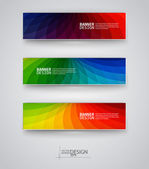Web design templates. Set of Banners — Stock Vector
