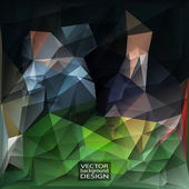 Geometric Triangular Abstract Modern Vector Background. — Stock Vector