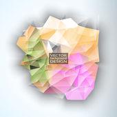 Geometrik üçgen soyut modern vektör arka plan. — Stok Vektör