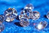 Diamonds on blue — Stock Photo