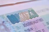 Visa in passport — Stock Photo