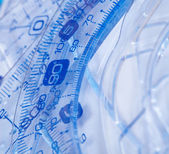 Plastic rulers — Stock Photo