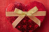 Scatola rossa a forma di cuore — Foto Stock