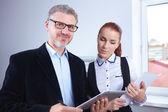 деловые люди в офисе — Стоковое фото