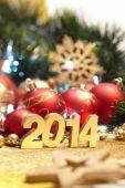 различные рождественские украшения — Стоковое фото