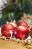 Red weihnachtsdekoration — Stockfoto