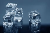 Ice cubes closeup — Stockfoto