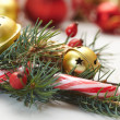 Christmas decorations with fir tree branch — 图库照片 #59204147
