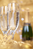 Champagne at new year party — Stock Photo