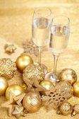 Champagne at new year party — Stok fotoğraf