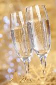 Champagne at new year party — Stockfoto