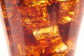 Cola with ice cubes — Stock Photo