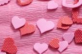 粉红色的纸心 — 图库照片