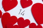 Calendar to Valentines day — Stock Photo
