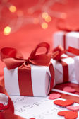 Presents for Valentine day — Stock Photo