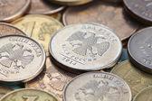 Russian coins closeup — Stock Photo