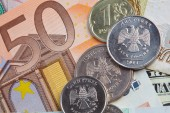 Money of various countries — Stock Photo