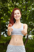 Mooie fit vrouw — Stockfoto