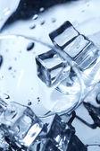 Wet ice cubes — Stock Photo