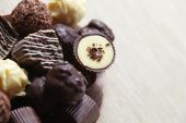 Different chocolate sweets — Stock Photo