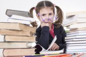 Little student — Stock Photo