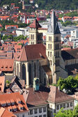 Esslingen am Neckar views from Castle Burg near Stuttgart, Baden — Stock Photo