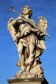 Statue Potaverunt me aceto on bridge Castel Sant' Angelo, Rome — Stock Photo