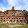 A panoramic view on Trajan's Market (Mercati Traianei) in Rome, — Stock Photo #73131511