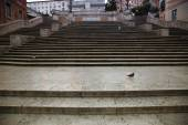 Spanish square with Spanish Steps  in Rome Italy — Stock Photo