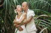 História de amor na selva — Fotografia Stock