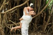Love story in jungle — Fotografia Stock