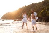 História de amor na praia — Fotografia Stock
