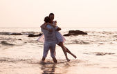 Love story on the beach — Fotografia Stock